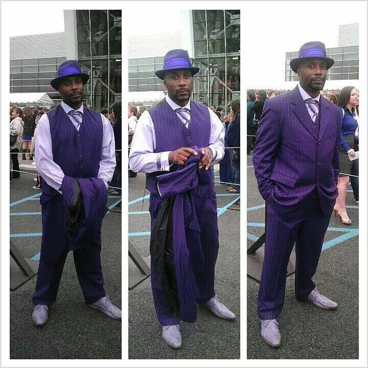 Diamonds customer Christopher Louis standing out in the crowd! We love the vest! Suit by Stacy Adams Hat by Bailey Shoes by Stacy Adams